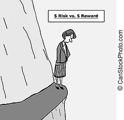 contra, riesgo, recompensa