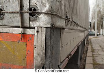 contrabando, camión, sucio