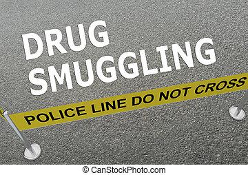 contrabando, concepto, droga