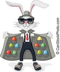 contrabando, huevos, conejo pascua