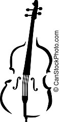 Contrabass caligraphy style