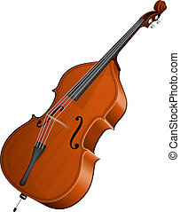 contrabass - Vector illustration contrabass isolated on...