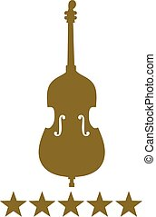 Contrabass with five golden stars