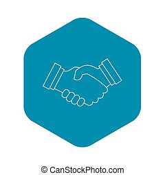 Contract agreement icon, outline style