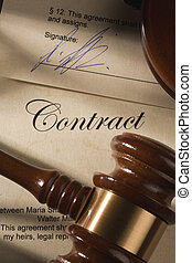 Contract and gavel