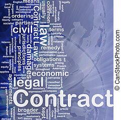 Contract background concept - Background concept wordcloud...