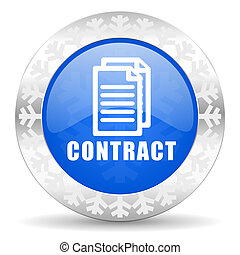contract blue icon, christmas button