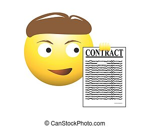 Contract Business Man Emoticon