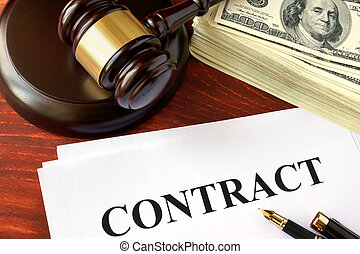 Contract, cash and gavel