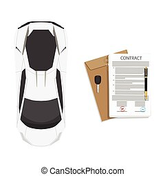 Contract concept vector - Vector illustration of signed ...