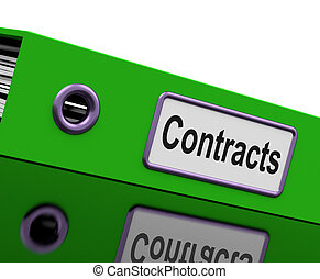 Contract File Shows Legal Business Agreements - Contract ...