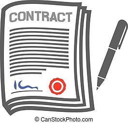 contract flat icon