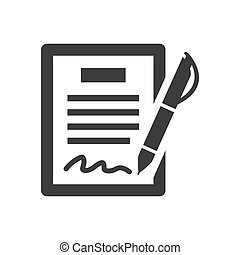 Contract flat vector icon on white background.
