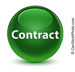 Contract glassy soft green round button