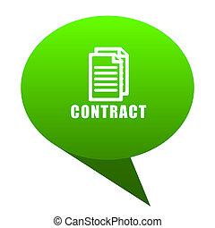 contract green bubble icon