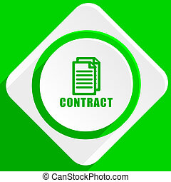 contract green flat icon