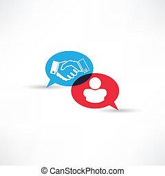 contract handshake icon