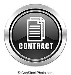 contract icon, black chrome button