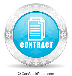 contract icon, christmas button