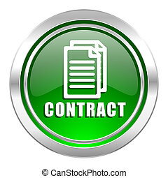 contract icon, green button