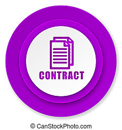 contract icon, violet button