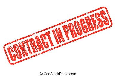 CONTRACT IN PROGRESS red stamp text