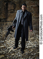 contract killer agent character - View of a contracted type ...