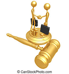 Contract Law - 3D Concept And Presentation Figure