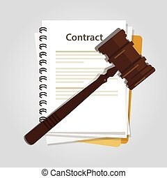 contract law concept of legal regulation judicial system business agreement law-suit