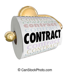 Contract Nullified Void Not Worth Toilet Paper on Roll - A...