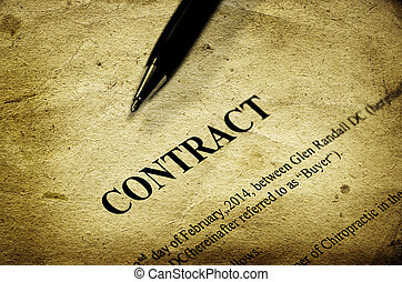 Contract on Paper with Black Pen Business Agreement