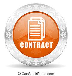 contract orange icon, christmas button