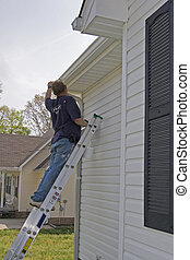 Contract painter working outside 1