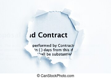 Contract paper hole