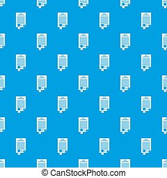 Contract pattern seamless blue