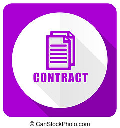 contract pink flat icon