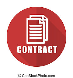 contract red flat icon