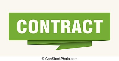 contract sign. contract paper origami speech bubble....