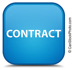 Contract special cyan blue square button