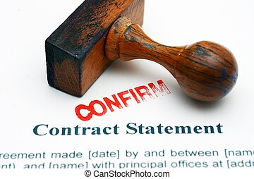 Contract statement - confirm