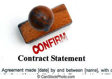 Contract statement