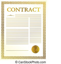 contract - golden legal contract ready to be signed