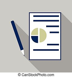 Contract vector icon. Flat business symbol. Agreement pictogram, simple vector illustration for website and mobile app