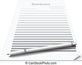 Contract with pen on it concept image.