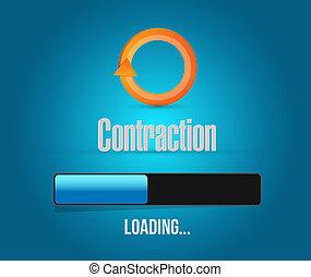 contraction loading bar illustration