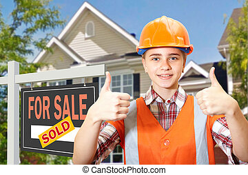 Contractor and home for sale