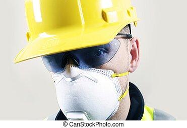 Contractor Face Closeup