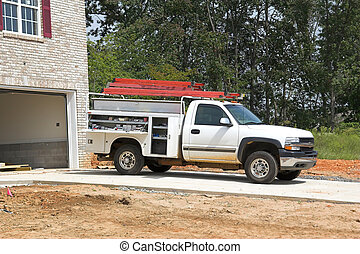 contractor on site - Contractors working on new construction