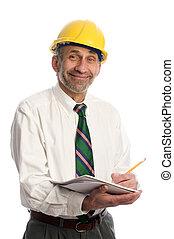 contractor writing estimate project - builder contractor...