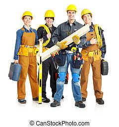 contractors workers people - Industrial contractors workers...